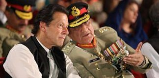 File photo of Pakistan's PM Imran Khan with its Army Chief General Qamar Bajwa | @peaceforchange | Twitter