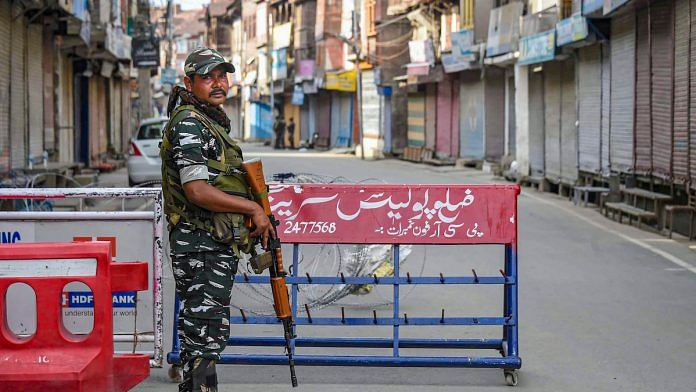 File image of security personnel in Kashmir | PTI