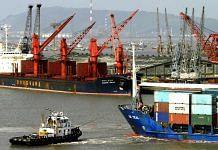 Cargo ships docked at the Mumbai Port   Photographer: Amit Bhargava   Bloomberg News