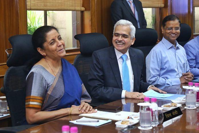 Finance Minister Nirmala Sitharaman with RBI Governor Shaktikanta Das   Photo: Suraj Singh Bisht   ThePrint
