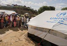 A refugee camp in Bangladesh