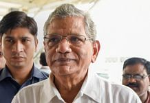 CPI(M) General Secretary Sitaram Yechury at the IGI airport on 24 August