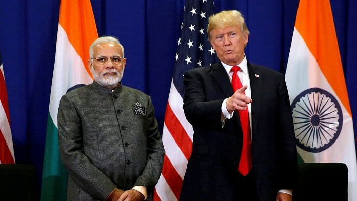 Philippines, March 05 (ANI): U.S. President Donald Trump holds a bilateral meeting with India's Prime Minister Narendra Modi alongside the ASEAN Summit in Manila, Philippines on November 13, 2017.