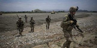 Soldiers from 2nd Platoon Fox Co. of the 2-506th Infantry Battalion in the Sabari district of Khost province, Afghanistan. Photographer: Victor J. Blue/Bloomberg