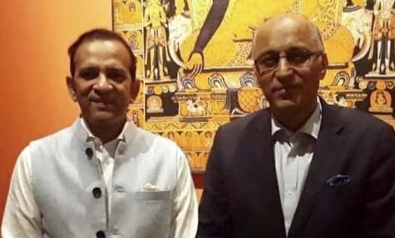 Indian High Commissioner to Islamabad Ajay Bisaria and Pakistan envoy to New Delhi Moin ul Haque   Facebook: Ajay Bisaria