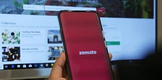 Zomato food delivery app | ThePrint Photo by Manisha Mondal