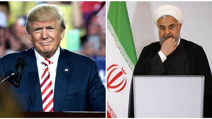 US President Donald Trump and Iran's President Hasaan Rouhani