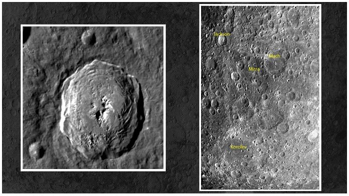 Chandrayaan-2 captures images of the lunar surface with it Terrain Mapping Camera-2 (TMC-2) on 23 August at an altitude of about 4,375 km. The photo shows craters including Jackson, Mach, Korolev and Mitra | ISRO