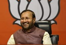 Union Minister Prakash Javadekar at a press conference in New Delhi, Augist 2019. | Photo: Suraj Singh Bisht | ThePrint
