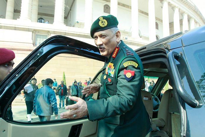 Army chief Gen Bipin Rawat | Photo: Praveen Jain | ThePrint.in