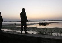 A file photo of Indian Army soldiers on a patrol near Dal Lake in Jammu & Kashmir | Praveen Jain | ThePrint