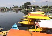 The Dal Lake in Srinagar, Jammu and Kashmir