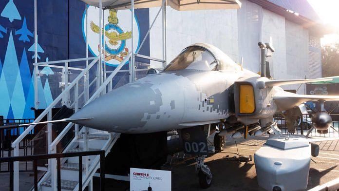 Saab AB Gripen E smart fighter aircraft