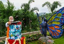 PM Narendra Modi releases butterflies at the Butterfly Park on the occasion of his 69th birthday, in Kevadia | PTI