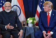 Prime Minister Narendra Modi with US President Donald Trump at a bilateral meet at the UNGA | ANI