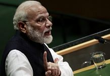 File photo: PM Narendra Modi speaks during the UN General Assembly meeting in New York, 27 Sept   Yana Paskova/Bloomberg