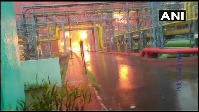 ONGC plant fire