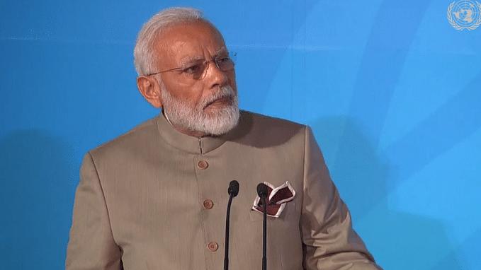 PM Narendra Modi at UN Climate Summit   Twitter: @UNFCCC