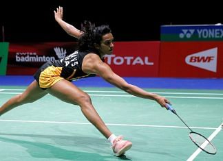 P.V. Sindhu during her quarter-final women's singles match against Chinese Taipei's Tai Tzu Ying during 2019 Badminton World Championships | ANI