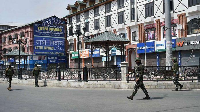 Restrictions and shutdown in Srinagar