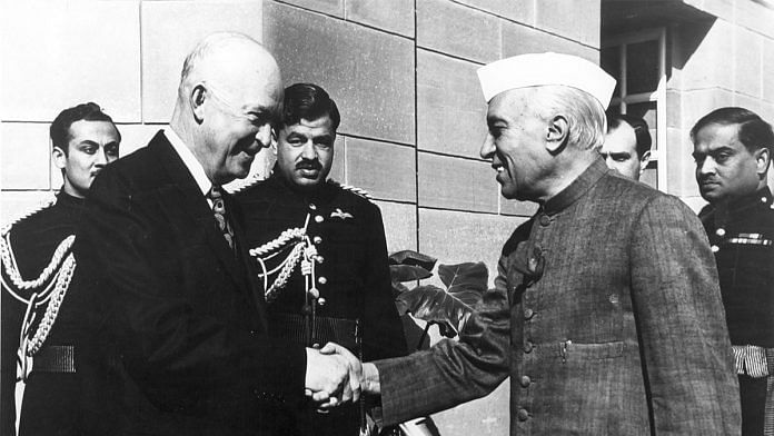 US President Dwight D. Eisenhower with former PM Jawaharlal Nehru | Wikipedia Commons