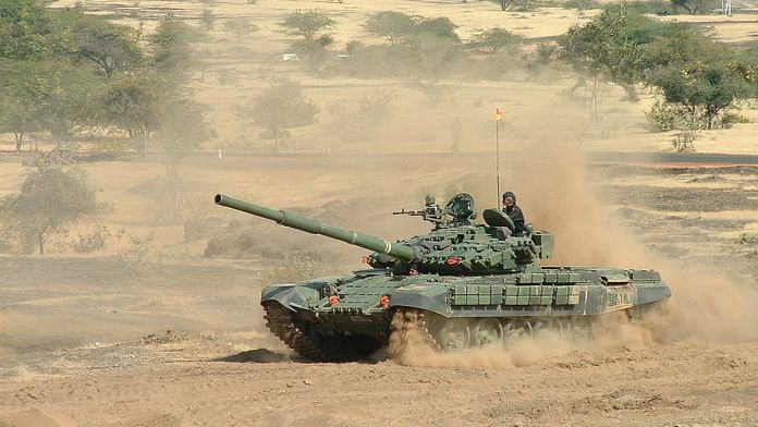 A file photo of the Indian Army's T-72 Ajeya MK2 tanks. | Photo: Commons