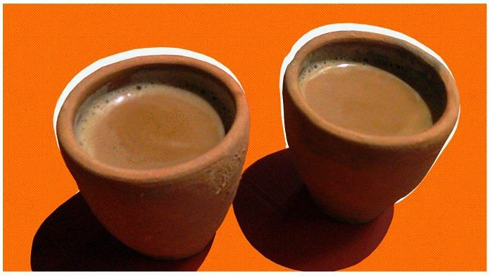 Tea served in kulhads or earthen cups