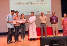 The winners, The National Law School of India University, accepting their award. | Rohini Swamy | ThePrint