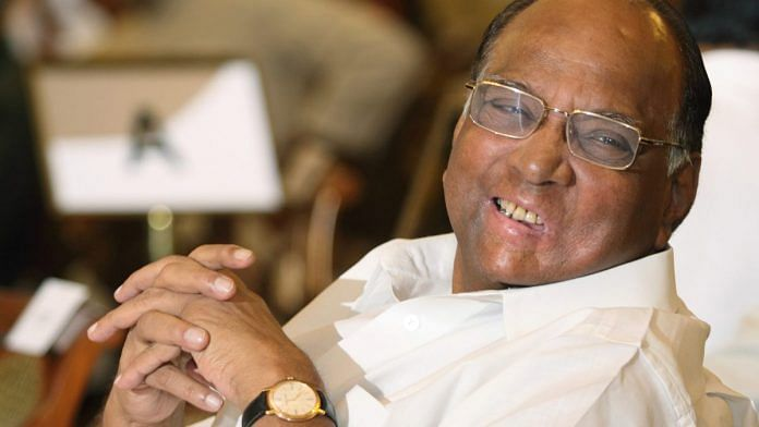 File photo of NCP chief Sharad Pawar | Photo: Pankaj Nangia | Bloomberg