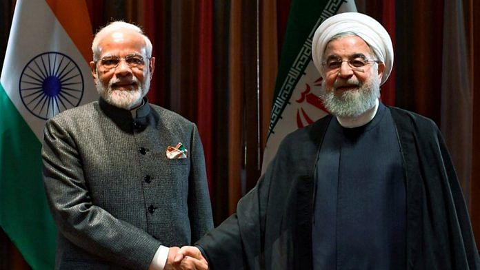 Prime Minister Narendra Modi and President of the Islamic Republic of Iran Hassan Rouhani during a meeting in New York, Thursday, Sept. 26, 2019. | PTI