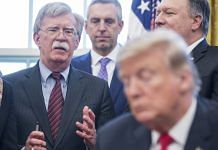 John Bolton, former national security advisor, speaks before U.S. President Donald Trump signs a memorandum establishing the Women's Global Development and Prosperity Initiative (W-GDP) in the Oval Office of the White House. | Photographer: Zach Gibson | Bloomberg