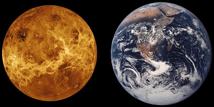 Venus in comparison to Earth   Needpix.com