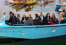 Members of European Union Parliamentary delegation during a shikara ride at Dal Lake in Srinagar   PTI