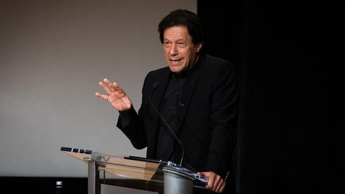 Pakistan Prime Minister Imran Khan speaks during an event at the Asia Society in New York, US | Photo: Cate Dingley | Bloomberg