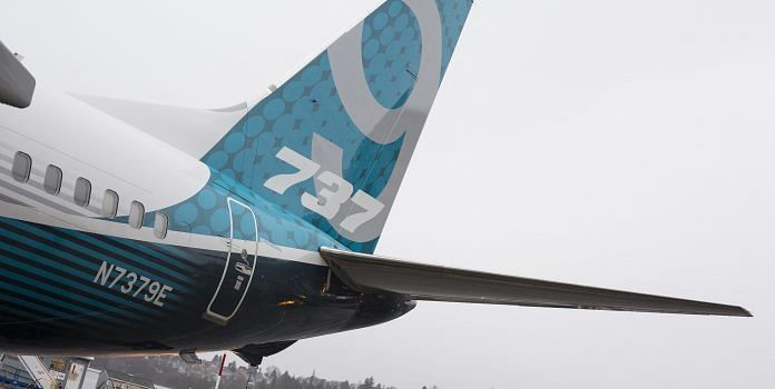 The tail of a Boeing Co. 737 Max 9 Photographer | David Ryder | Bloomberg