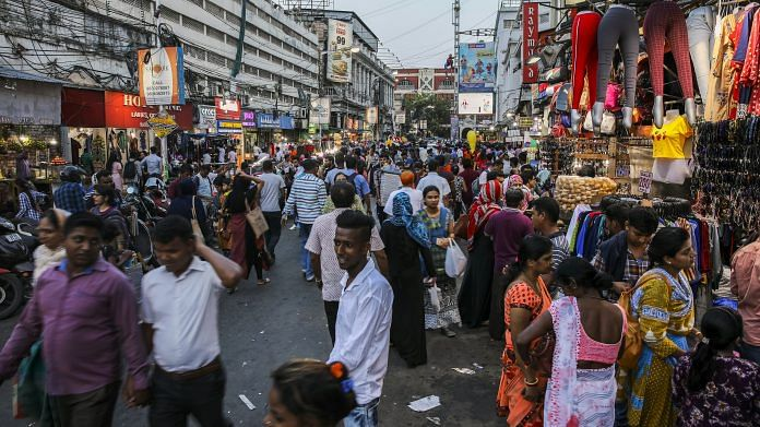 Shoppers walk through the New Market area in Kolkata, India, on Tuesday, April 30, 2019. Prime Minister Narendra Modi is seeking a re-election bid in national elections   Photo by Prashanth Vishwanathan   Bloomberg