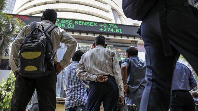 An elctronic ticker dsiplaying sensex at Bombay Stock Exchange | Photo: Dhiraj Singh | Bloomberg