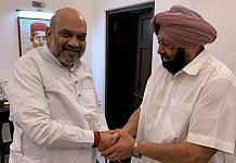 File image of Union Home Minister Amit Shah and Punjab CM Captain Amarinder Singh