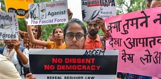 Activists protests against sedition law