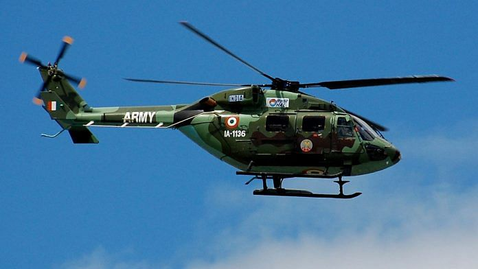 The Advanced Light Helicopter 'Dhruv' was inducted in the Indian Army in 2001
