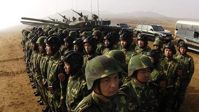 Representational image of Chinese soldiers