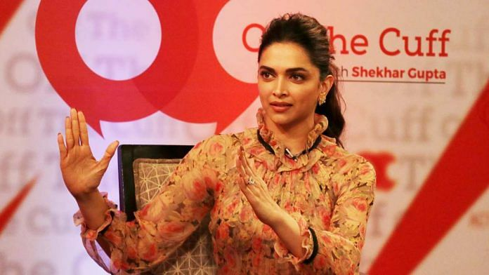 A file photo of actor Deepika Padukone at ThePrint's Off the Cuff. | ThePrint
