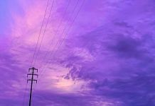 Purple sky in Japan