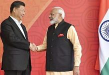 File photo of PM Narendra Modi with Chinese President Xi Jinping, at Fisherman's Cove in Kovalam near Mamallapuram, October 2019 | Photo: Twitter | PTI