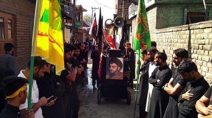 Muharrum procession in Pulwama, Kashmir | Sajid Ali | ThePrint
