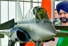 Group Captain Harkirat Singh (inset) will be the first commanding officer of the new Rafale squadron   Background photo: Twitter   Indian Air Force (@IAF_MCC)   Inset photo: Twitter   @rajnathsingh