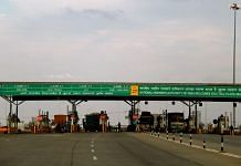 Toll booth on an Indian national highway
