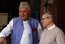 File image of National Conference chief Farooq Abdullah and Omar Abdullah | Photo: ANI