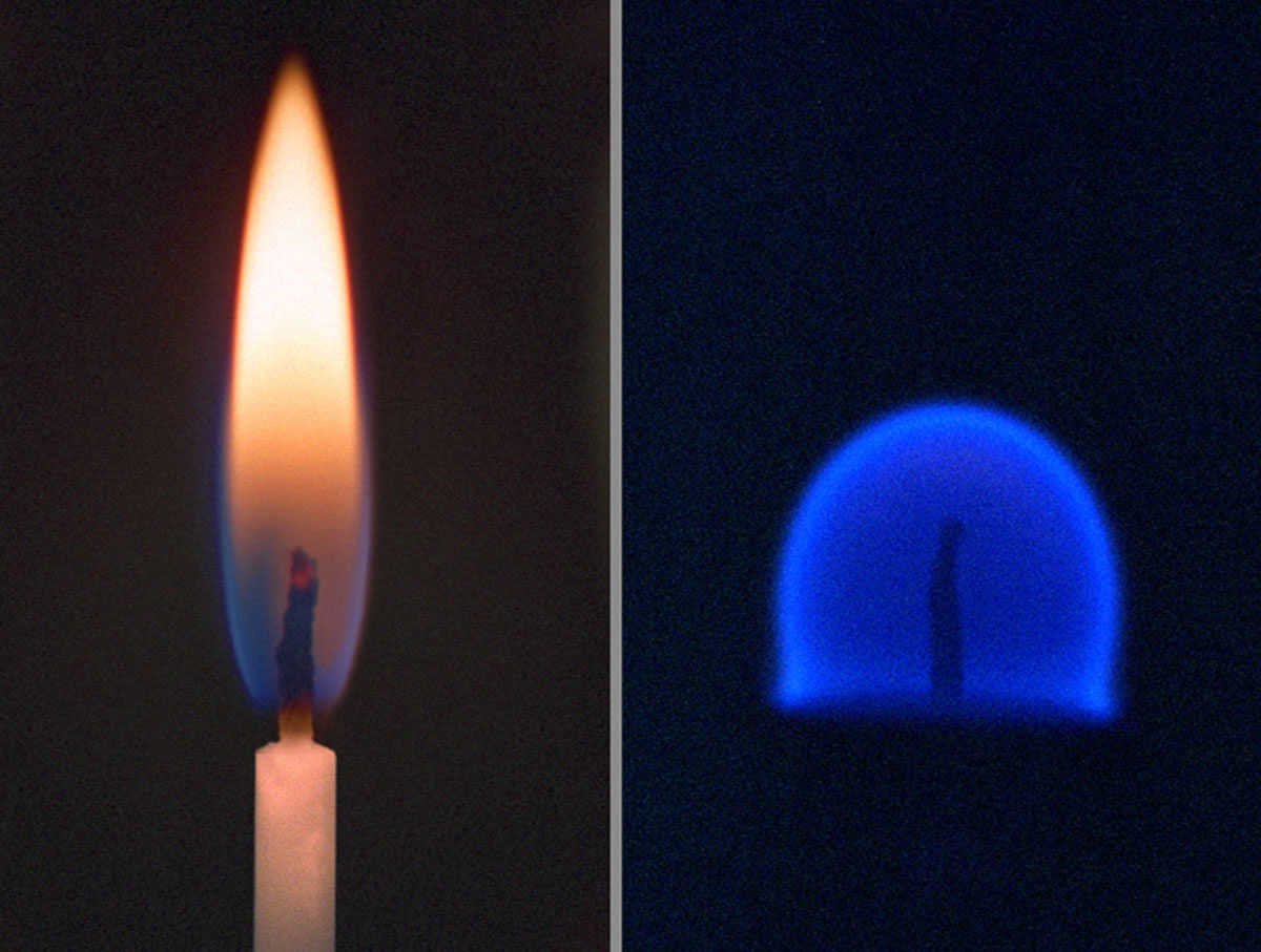 A flame is spherical in microgravity