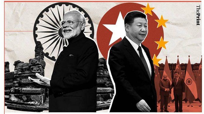 Representational image of Indian PM Narendra Modi and Chinese President Xi Jinping| Illustration: Soham Sen | ThePrint